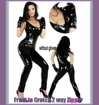 Metallic Custom Size Fit Zip Front - Back Sleeveless Tank Catsuit  image 2