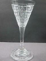 Cut glass sherry stemware Hand cut stepped foot - $24.07