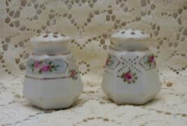 Vintage Shabby Cottage Chic Rose Design Salt & Pepper Shakers - $7.99