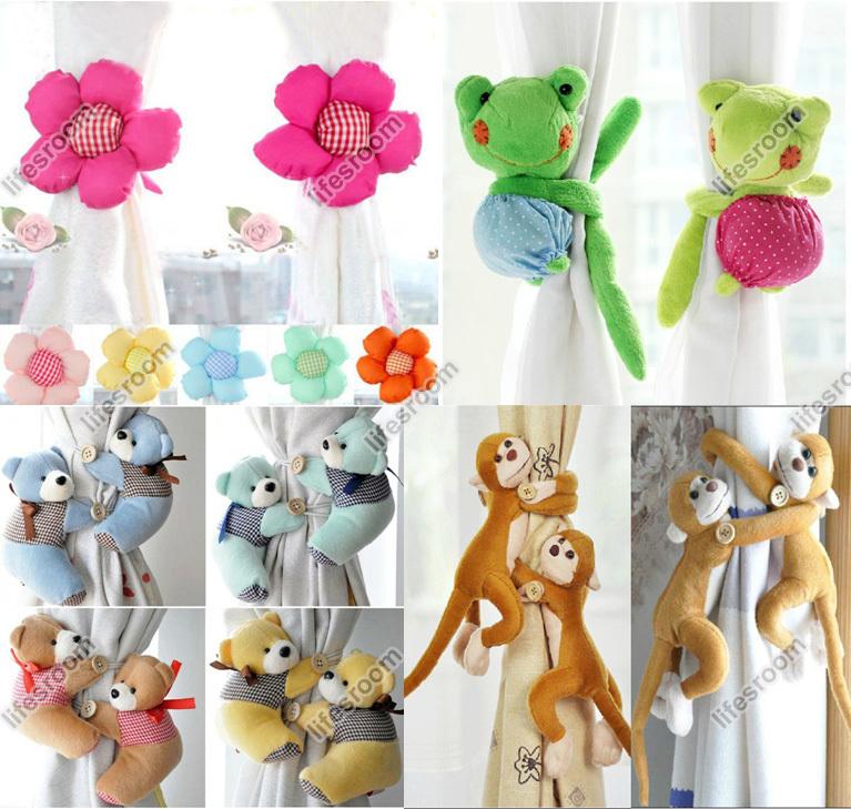 New Flower Baby Kid Nursery Bedroom Curtain Tieback Tie