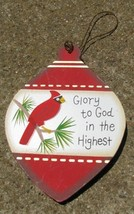 Wood Christmas Ornament wd855 - Glory to God in the Highest - $1.95