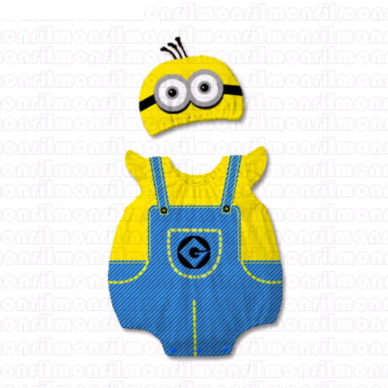 Baby Despicable Me Minion Stewart Cosplay Onesie Bodysuit Romper Jumpsuit Outfit