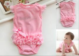 Baby Newborn Girl Princess Onesie Bodysuit Romper Party Dance Dress Pett... - $24.50+