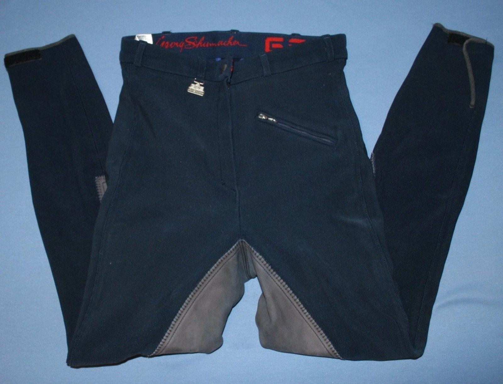 73ead945da2c Navy Blue Gerry Schumaker Sz 26L 26 L Riding Pants Womens Equestrian Jockey  -  27.71