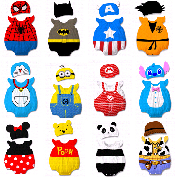 Baby Kid Cartoon Animal Grow Onesie Bodysuit Romper Outfit Costume Set Suit