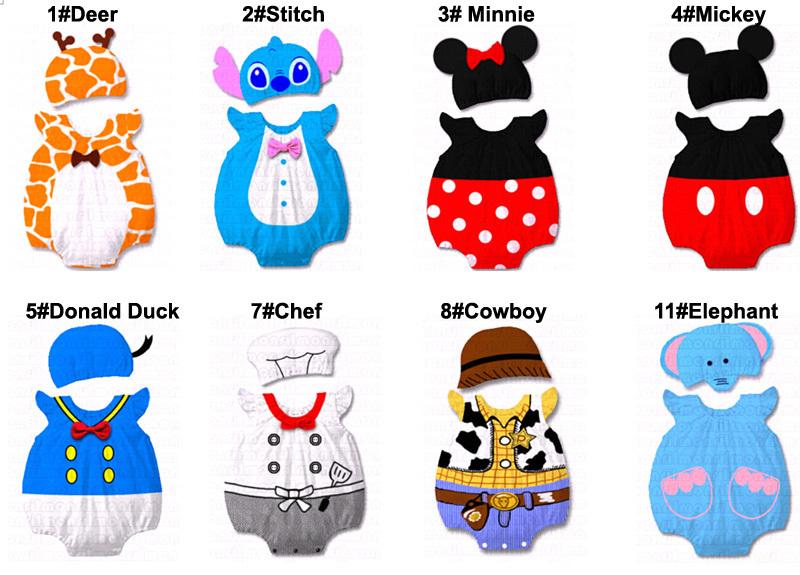 Baby Kid Cartoon Animal Grow Onesie Bodysuit Romper Outfit Costume Set Suit image 2
