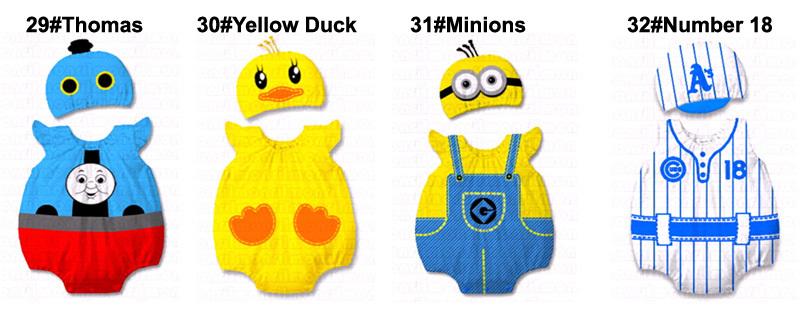 Baby Kid Cartoon Animal Grow Onesie Bodysuit Romper Outfit Costume Set Suit image 5