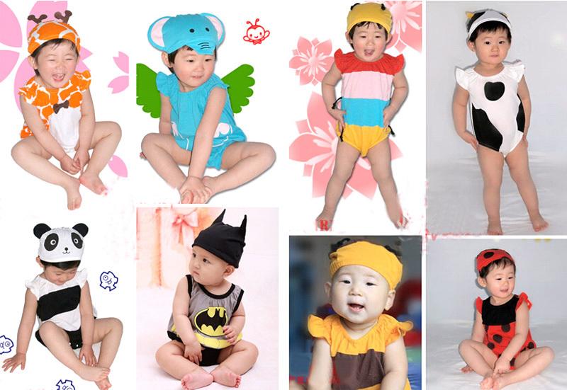 Baby Kid Cartoon Animal Grow Onesie Bodysuit Romper Outfit Costume Set Suit image 6