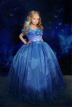 Movie Girls Cinderella Princess Cosplay Party Fancy Dress Xmas Halloween Costume image 2