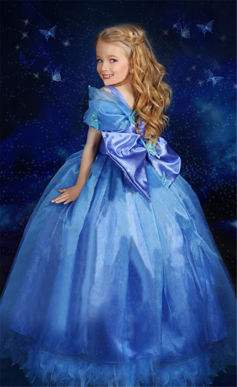 Movie Girls Cinderella Princess Cosplay Party Fancy Dress Xmas Halloween Costume image 3
