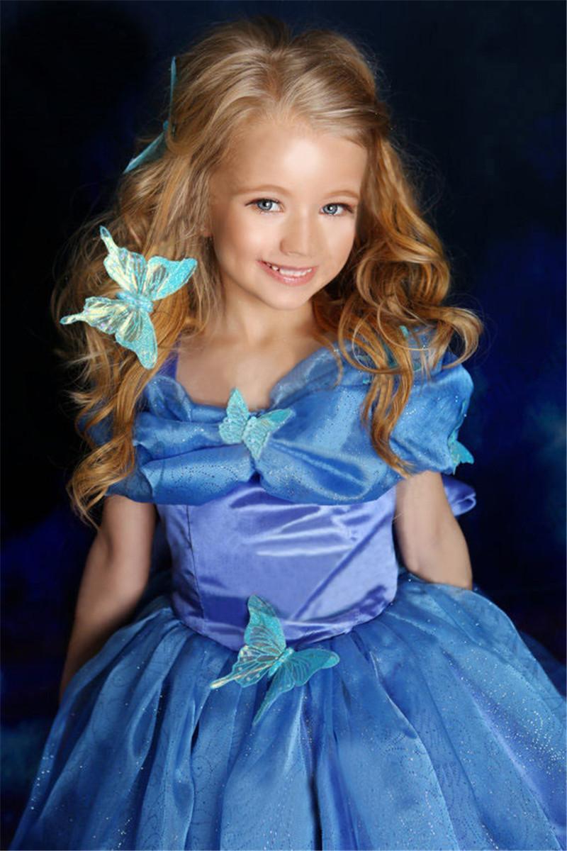 Movie Girls Cinderella Princess Cosplay Party Fancy Dress Xmas Halloween Costume image 4