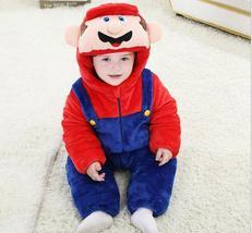 Disney Baby Mario Luigi Jumpsuit Climb Pajamas Playsuit Snowsuit Hoodie ... - $32.00+
