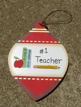 Wood Christmas Ornament wd859 Teacher #1  - $1.95