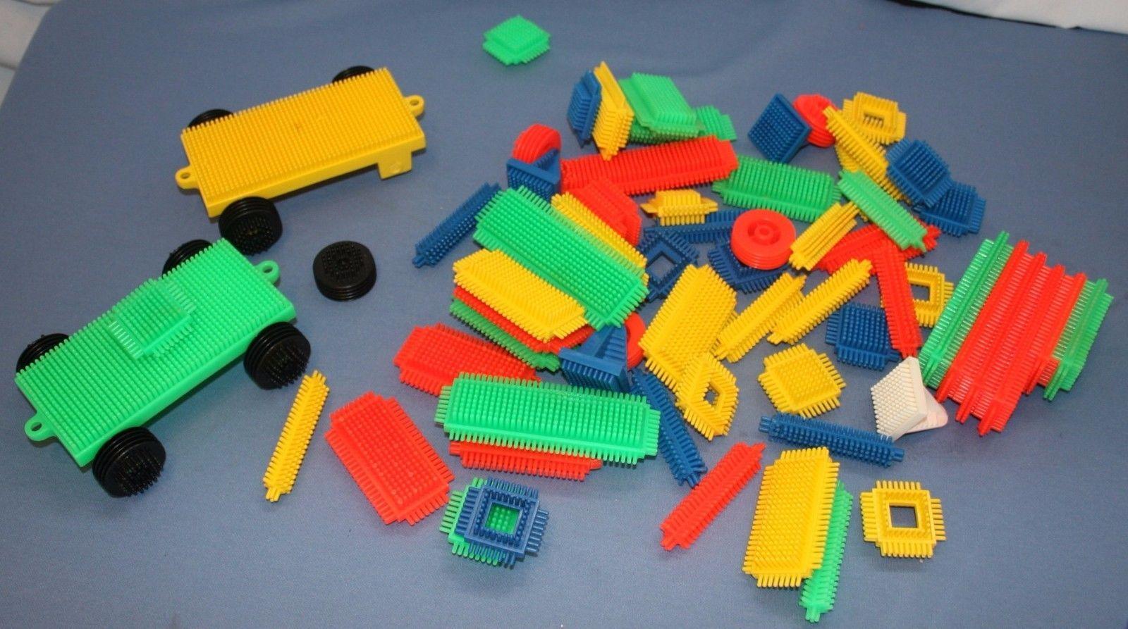 Lot Vtg Bristle Blocks 80 Pcs Plastic Toys And 50 Similar Items