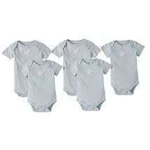 NEW NWOT Preemie Baby Bodysuits Burt's Bees 100% Organic Cotton Blue - $12.99