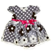 NEW NWT Sweet Heart Rose 6-9 Months Flower Polka Dot Dress - $9.99