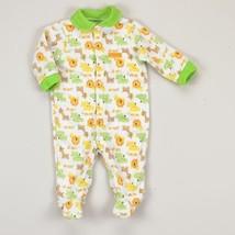 NEW NWT Boys Carter's 6 or 9 Months Fleece Sleep and Play Sleeper Jungle - $5.99