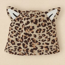 NEW NWT Girls The Children's Place Cheetah Hat with Ears Fits 0-6 Months - $3.99