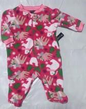 NEW NWT Girls Winter Christmas 0-3 Months Fleece Zip Snowflakes - $5.99