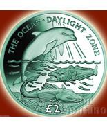 2016 Ocean Zones DAYLIGHT Turquoise TITANIUM Coin South Georgia Sandwich Islands - $59.00