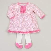 NEW Girls 2 Piece Dress Cutie Pie Cheetah Print Dress and Tights 6-9 Months - $12.99