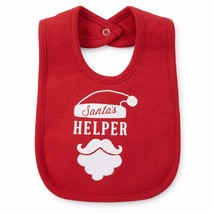 NEW NWT Boys or Girls Christmas Santa Snap Close Bib One Size - $3.99