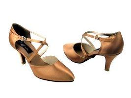 "Ladies Rhythm Salsa Competitive Dancer CD6017 Tan Satin 3"" (5M) - $79.95"