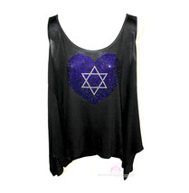 Beauty for Ashes® Womens Plus Size Crystal Israel Bling Star of David Ta... - $49.50