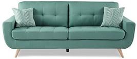 "Homelegance 86"" Fabric Sofa, Teal - $1,059.19"