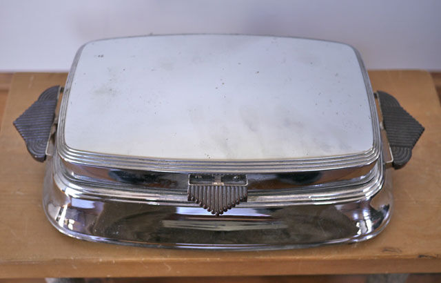 Vintage 40s FOSTORIA Bersted Chrome & Bakelite Art Deco Grill Griddle 500w USA - $13.59