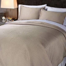 Concierge Collection Diamond Quilted 3piece Coverlet Set, Size Full/Queen - $74.24
