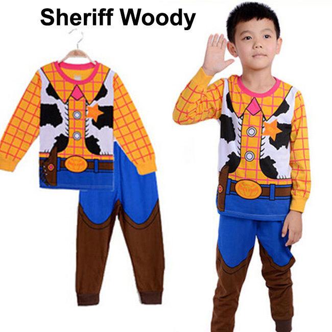Baby Kid Toddler Boy Cartoon Pajama Sleepwear Nightwear Top Pants Cloth Set Suit