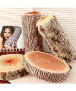 3D Wood Log Home Sofa Chair Waist Throw Pillow Support Cushion Cover Case Decor - $25.99