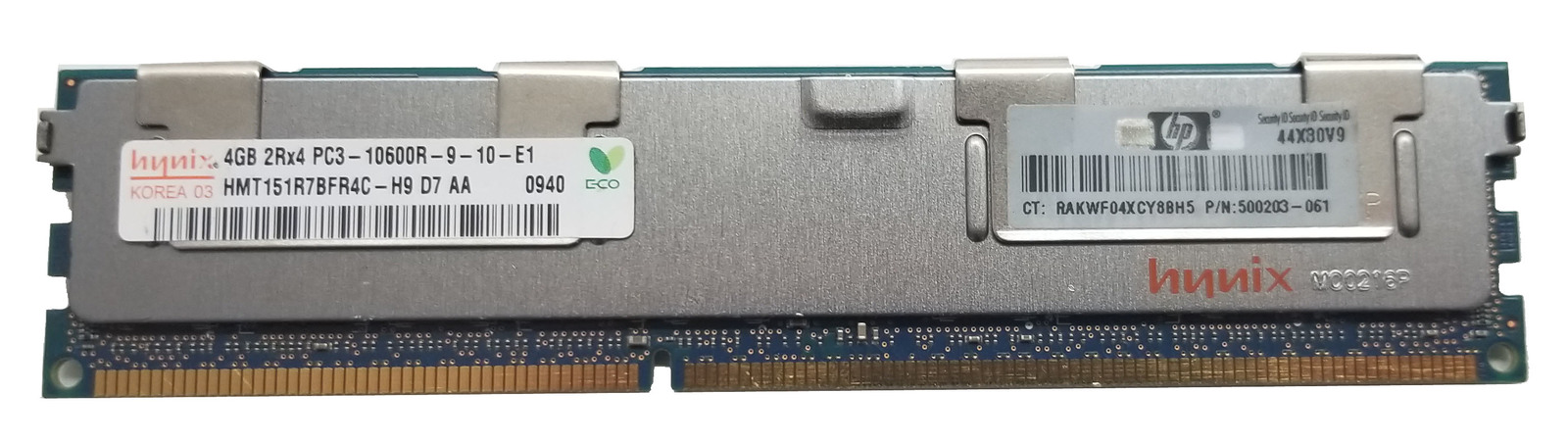 Hynix 4GB 2Rx4 PC3-10600R Server RAM (HMT151R7TFR4C-H9) Bin:12