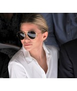 Large Aviator Sunglasses Gold Frame  Dark Smoked Lenses - $8.50