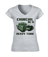 CHURCHILL MK III - NEW COTTON GREY LADY TSHIRT - $20.70