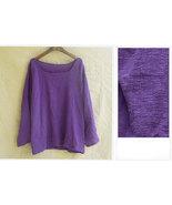 Women Soft Loose Natural Breathe Linen Muslin Cotton Slub Long Sleeves T... - $37.50