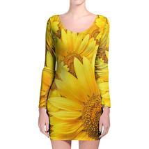 Sunflowers Longsleeve Bodycon Dress - $36.99+