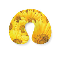 Sunflowers Travel Neck Pillow - $25.22 CAD