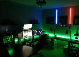 LED Gaming DESK lights ____ new 2016 __ dual monitor stand lighting - GIFT - €42,77 EUR