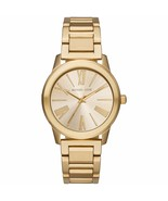 NEW MICHAEL KORS MK3490 HARTMAN GOLD-TONE STAINLESS STEEL 38MM CASE WOMENS WATCH - $128.69
