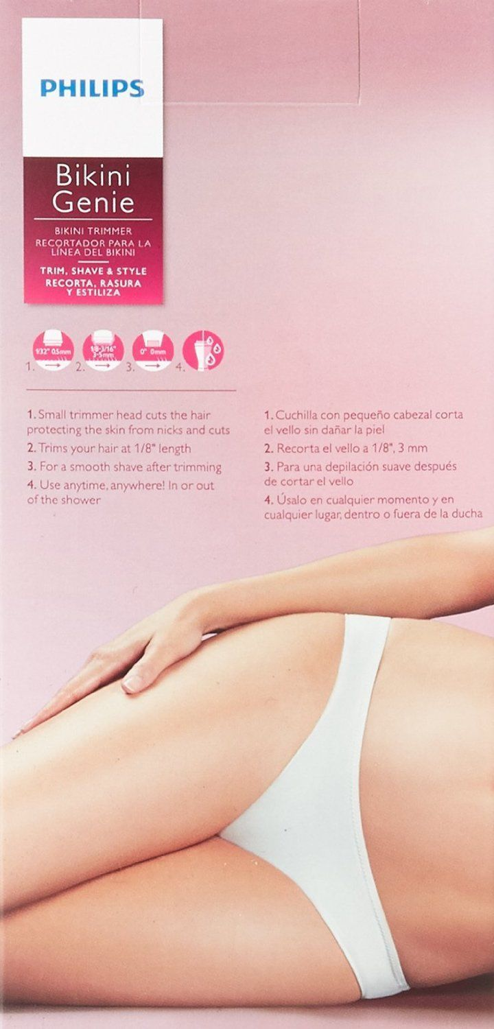 how to use philips bikini line trimmer