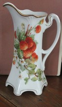 """Large 10"""" Decorative China Pitcher with Strawberries Crafted in Germany ... - $14.85"""
