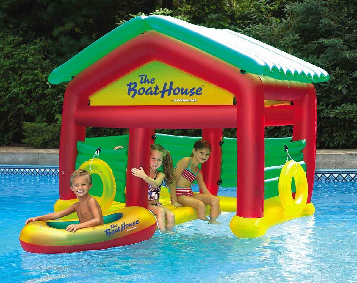 new kids inflatable pool boat house swimming pool float. Black Bedroom Furniture Sets. Home Design Ideas