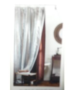 SHOWER CURTAIN NEW IN PACKAGE FROM TARGET 2007. SHINY BROWN WITH OVERLAY... - $24.25