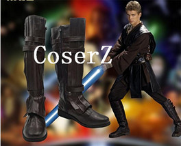 Star Wars Darth Vader Anakin Skywalker Cosplay Shoes Brown Boots Cosplay - $65.00