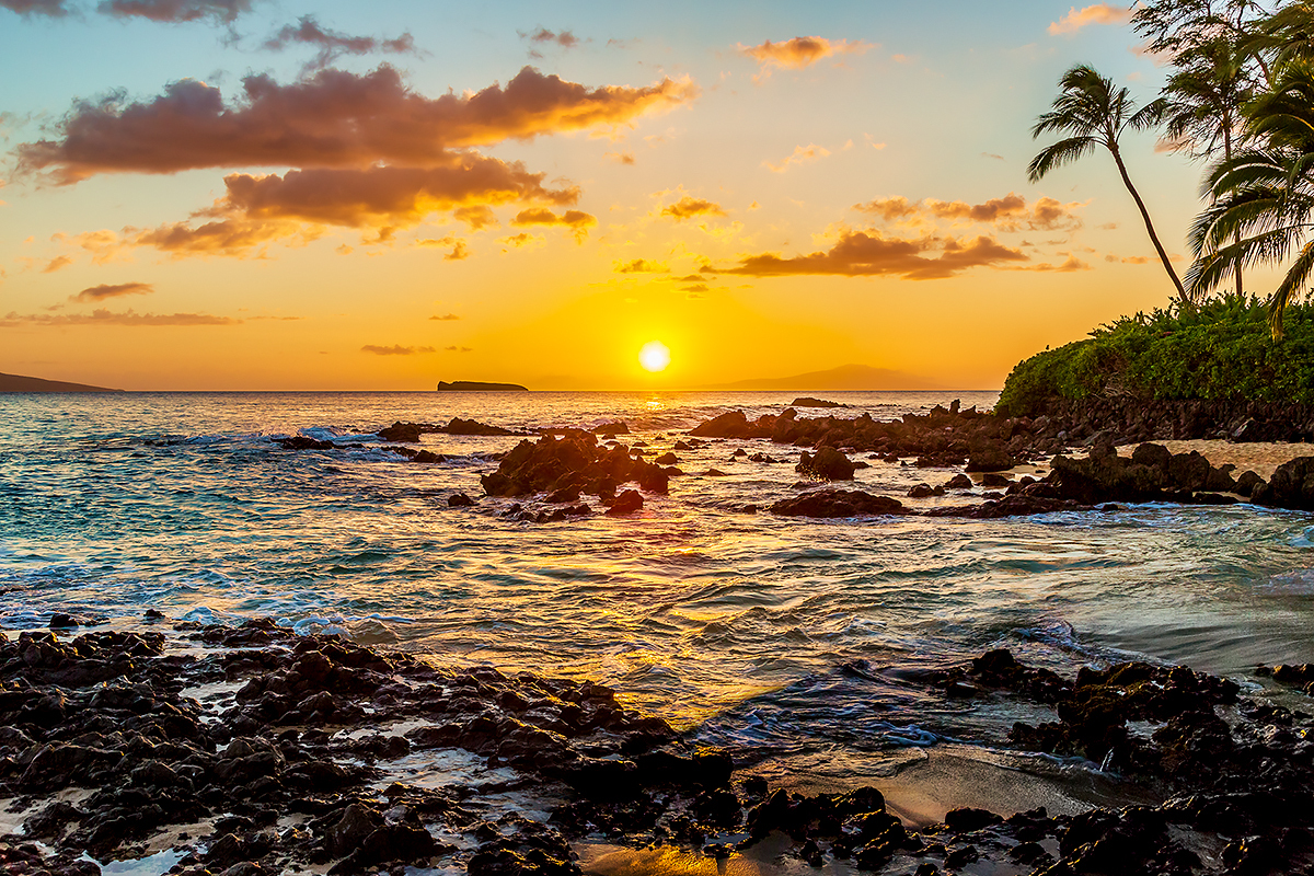 Secret Cove Sunset, Maui, Hawaii, Fine Art Photos, Paper, Metal, Canvas Prints