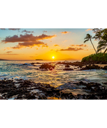 Secret Cove Sunset, Maui, Hawaii, Fine Art Photos, Paper, Metal, Canvas ... - $40.00 - $442.00