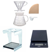 Hario V60 Complete Coffee Brewing Set - Scale, Brewer Set & Stand - $138.59