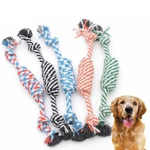 New Beauty Funny Small Puppy Dog Pet Toy Cotton Braided Bone Rope Chew K... - $13.57 CAD